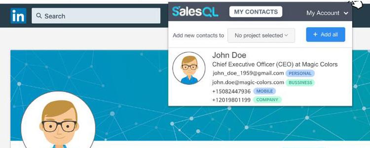 领英开发客户工具SalesQL