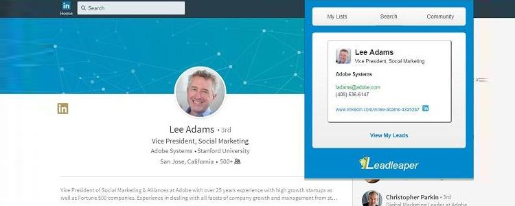 领英开发客户工具LeadLeaper