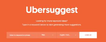 关键词优化工具--- Ubersuggest