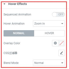 call to action功能元素的Hover Effects样式设置